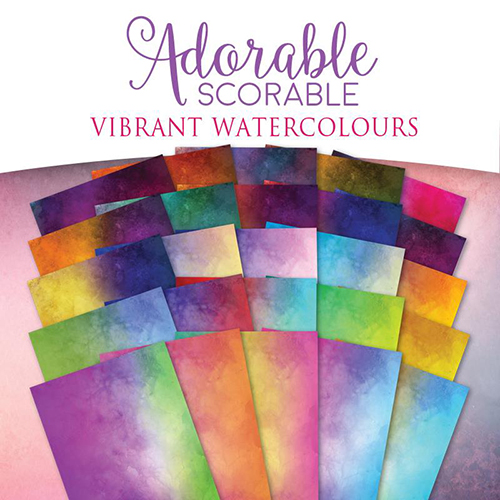 Vibrant Watercolours Cardstock