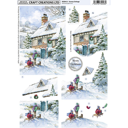 XDCD613 Snowy Cottage